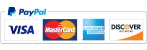 PayPal and all major Credit and Debit cards accepted